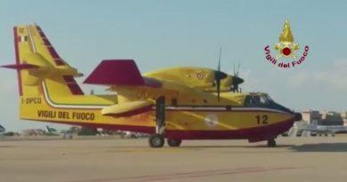 Incendi boschivi in Israele: decollati due canadair Vigili Fuoco