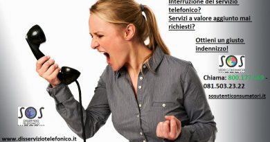 Interruzione del servizio telefonico e servizi a valore aggiunto