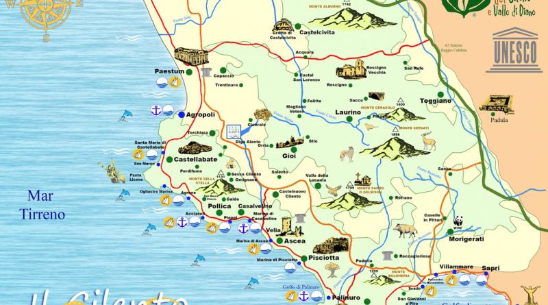 Cartina Campania Pdf.Video Cilento Perla Della Campania Larampa It