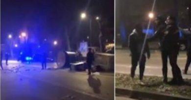 (VIDEO) Ferrara. Rivolta di un gruppo di nigeriani: disordini e cassonetti rovesciati