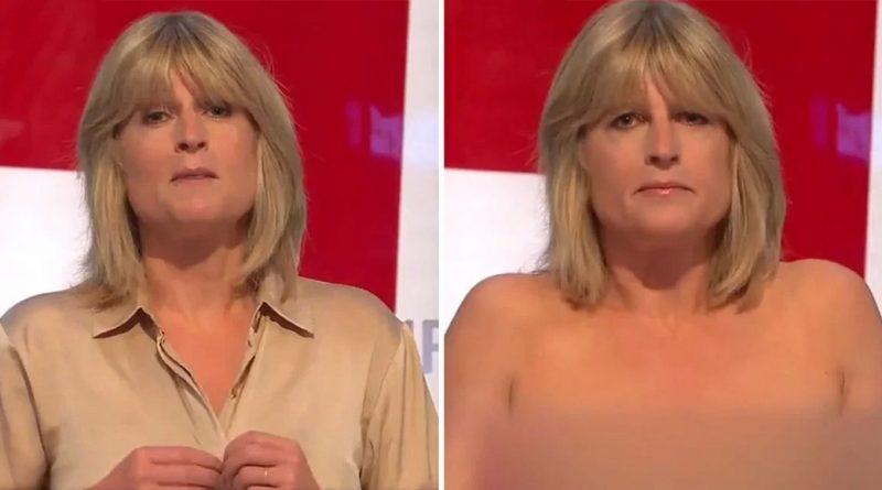 Brexit, per protesta giornalista Rachel Johnson si spoglia in diretta. -VIDEO-