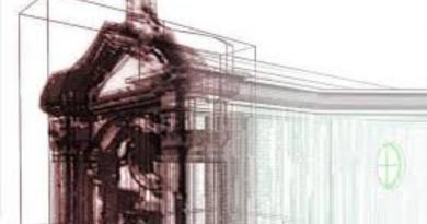 Ricostruzione 3D della chiesa di Sant'Eligio a cura dell'ISIS di Aversa