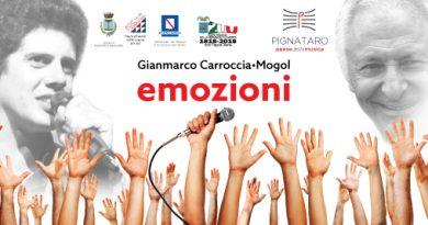 Pignataro si animerà con 'Emozioni', spettacolo a cura di Mogol e Gianmarco Carroccia