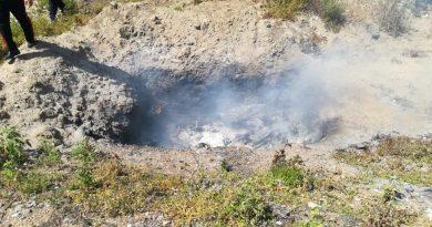 (FOTO) Eboli. Combustione illecita di rifiuti: sequestrata area
