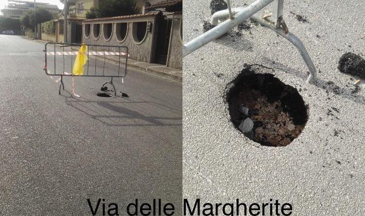 "(FOTO) Sicurezza stradale, AIFVS: ""Lusciano come Beirut"""