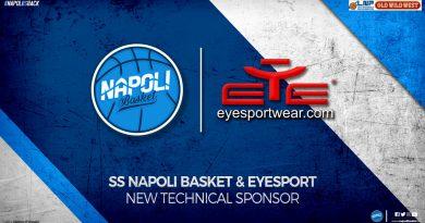 Napoli Basket, EYE Sport nuovo sponsor tecnico