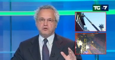 (VIDEO) Roma. Fiamme in studio LA7, Mentana ferma tg