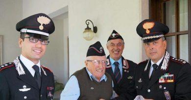 Compie 110 anni il Carabiniere più vecchio d'Italia