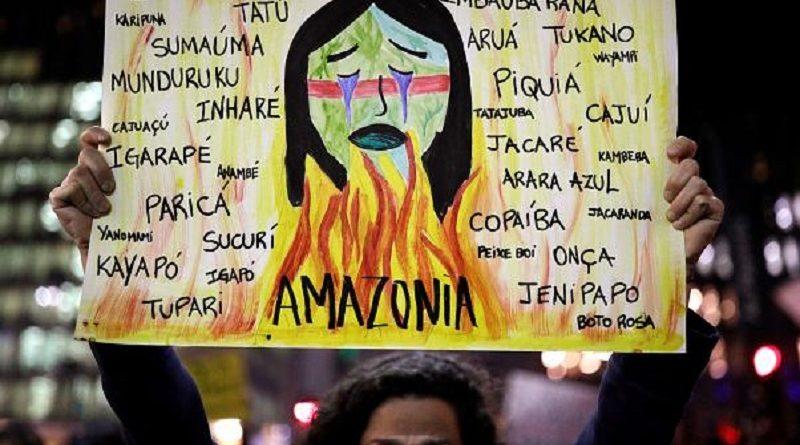 (VIDEO) Il fuoco dell'Amazzonia incendia le piazze