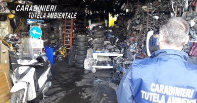 Castellammare. Carabinieri Noe scoprono attività autodemolizione abusiva