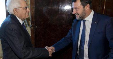 Coronavirus, Salvini incontra il presidente Mattarella