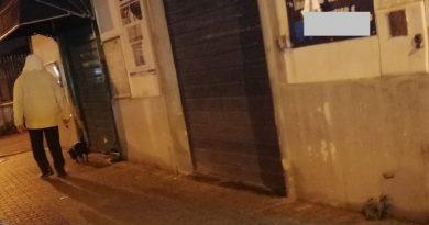Aversa. Segnalazione cittadino: cane defeca in strada e padrone non raccoglie escrementi