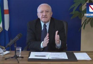 "Covid, De Luca: ""Con movida irresponsabile, nuovo calvario ad ottobre"""