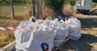 (FOTO) Succivo. Rimossi e smaltiti diversi quintali di amianto abbandonato