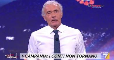 """(VIDEO) Covid Campania, Giletti contro De Luca: """"Sceriffo, lei è solo chiacchiere e distintivo"""""""
