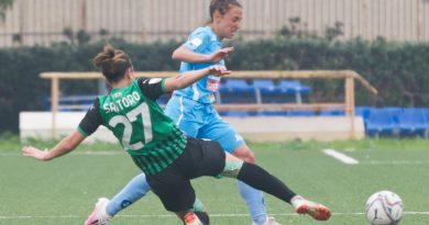 Calcio Femminile. Napoli battuta dal Sassuolo
