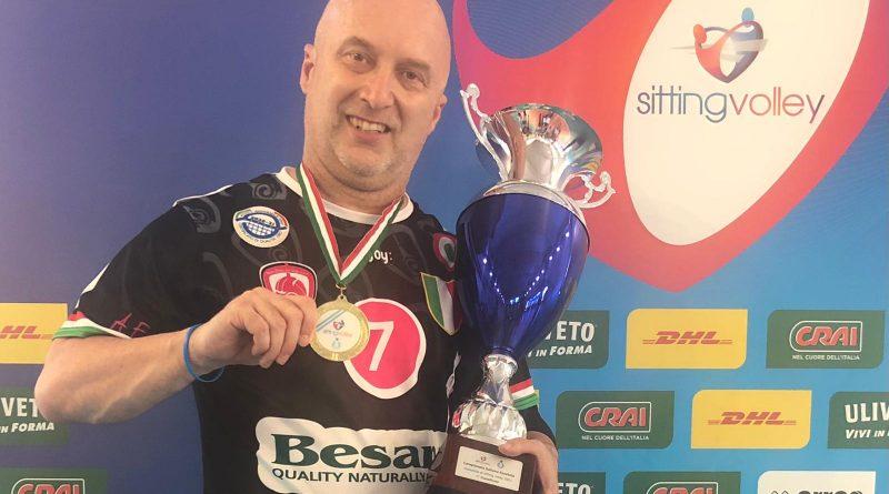 Sitting Volley, l'aversano Alfredo Diana campione d'Italia