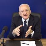"""(VIDEO) Green pass e covid, De Luca: """"Così evitiamo quarta ondata. Abbiamo 1 milione di non vaccinati"""""""