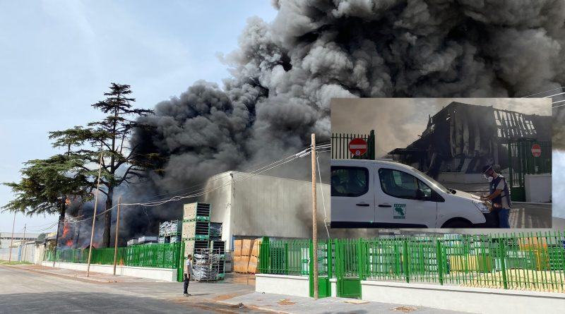 Incendio zona industriale Aversa Nord, primi risultati ARPAC del monitoraggio delle diossine